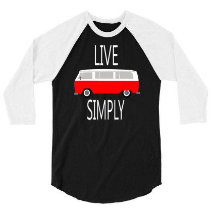 Vintage Van Retro Cool 3/4 Sleeve Shirt Designed By Farrel T-shirt