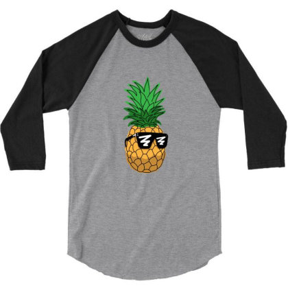 Cool Dude Pineapple 3/4 Sleeve Shirt Designed By Sr88