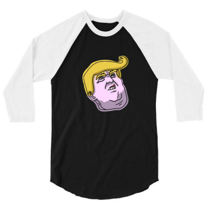Donny Trump 3/4 Sleeve Shirt Designed By Sr88