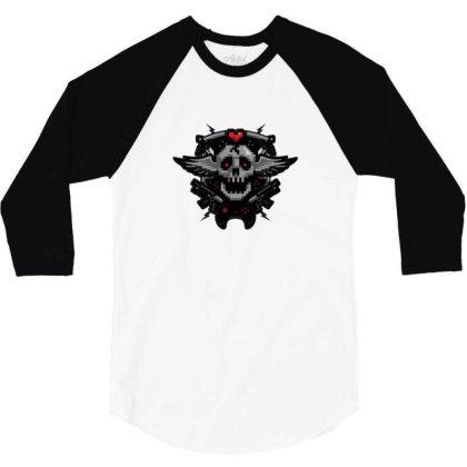 Gamer Crest 3/4 Sleeve Shirt Designed By Sr88