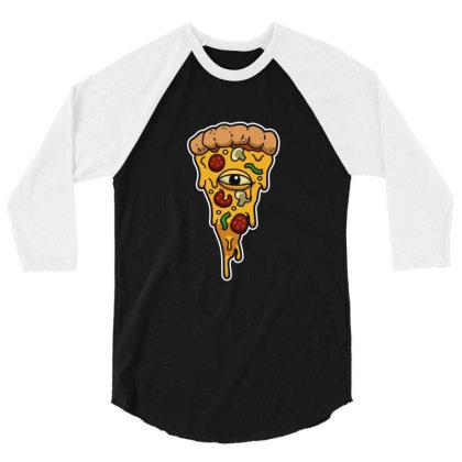 Illuminati Pizza 3/4 Sleeve Shirt Designed By Sr88