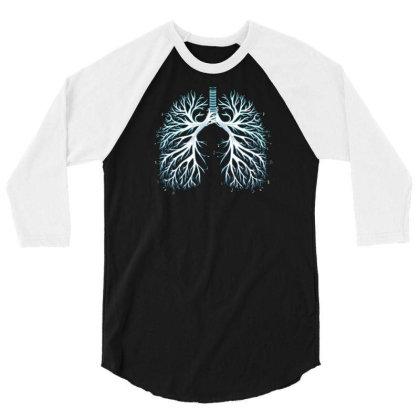 I Breathe Music 3/4 Sleeve Shirt Designed By Ika