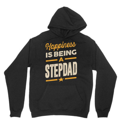 Mens Happiness Is Being A Stepdad - Father Grandpa Gift Unisex Hoodie Designed By Cidolopez