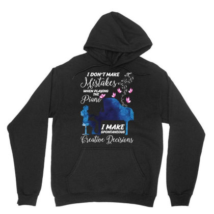 I Don't Make Mistakes When Playing The Piano For Dark Unisex Hoodie Designed By Gurkan