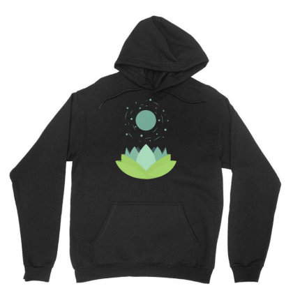 Moonflower Unisex Hoodie Designed By Ika