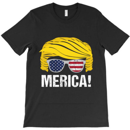 Trump 4th Of July American Flag T-shirt Designed By Kakashop