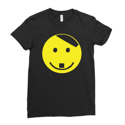 Smiley Face Adolf Hitler Ladies Fitted T-shirt Designed By Lyly
