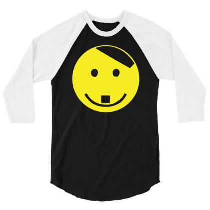 Smiley Face Adolf Hitler 3/4 Sleeve Shirt Designed By Lyly