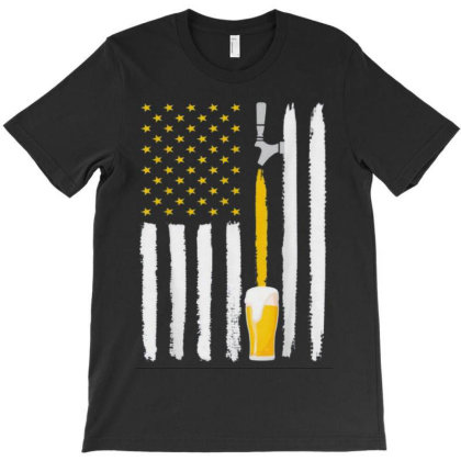 Craft Beer American Flag T-shirt Designed By Kakashop