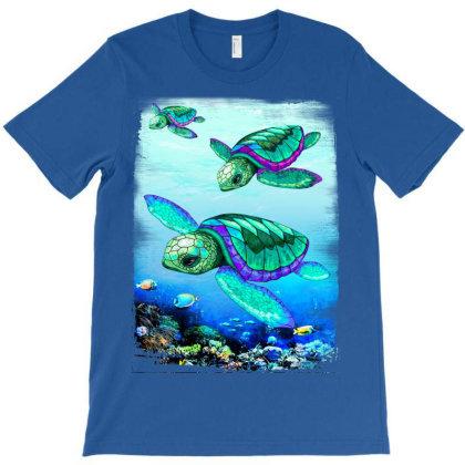 Sea Turtles Dance Oceanlife T-shirt Designed By Thechameleonart