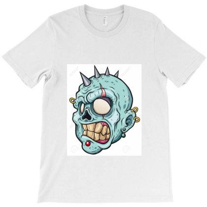 89174616 Illustration Vectorielle De La Tete De Zombie De Dessin Anime T-shirt Designed By Linda