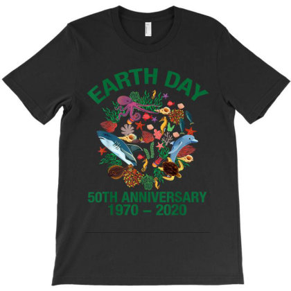 Sea Marine Fish Fifty Years Old Earth Day 50th Anniversary T-shirt Designed By Kakashop