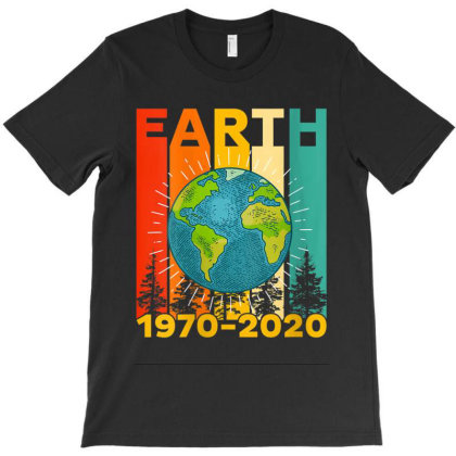 Vintage Earth Day 2020 50th Anniversary T-shirt Designed By Kakashop