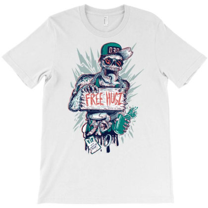 Free Hugz T-shirt Designed By Mochalatte