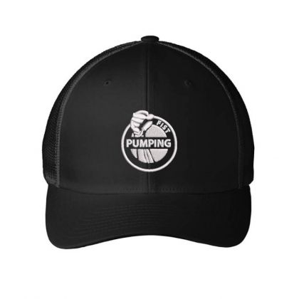 Pumping Embroidered Hat Embroidered Mesh Cap Designed By Madhatter