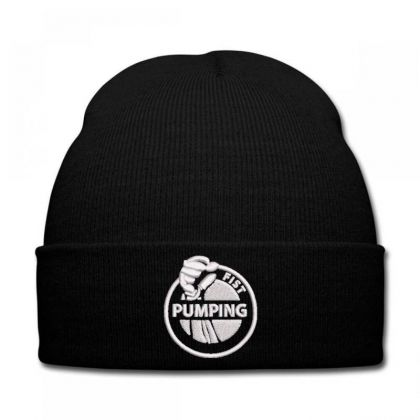 Pumping Embroidered Hat Knit Cap Designed By Madhatter
