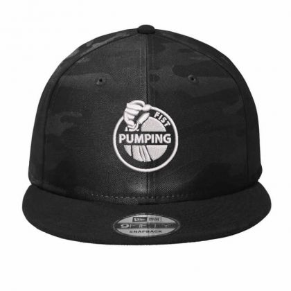 Pumping Embroidered Hat Camo Snapback Designed By Madhatter