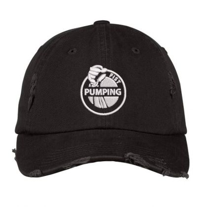 Pumping Embroidered Hat Distressed Cap Designed By Madhatter