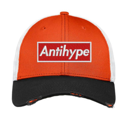 Antihype Embroidered Hat Vintage Mesh Cap Designed By Madhatter
