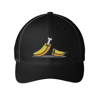 Banana Embroidered Hat Embroidered Mesh Cap Designed By Madhatter