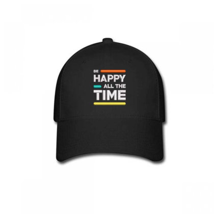 Be Happy Time Embroidered Hat Baseball Cap Designed By Madhatter