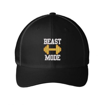 Beast Mood Embroidered Hat Embroidered Mesh Cap Designed By Madhatter