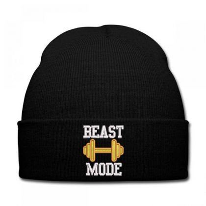 Beast Mood Embroidered Hat Knit Cap Designed By Madhatter