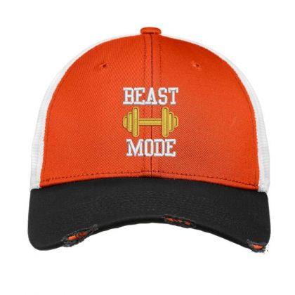 Beast Mood Embroidered Hat Vintage Mesh Cap Designed By Madhatter