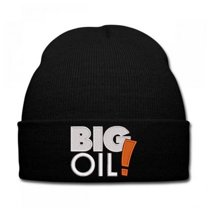 Big Oil Embroidered Hat Knit Cap Designed By Madhatter