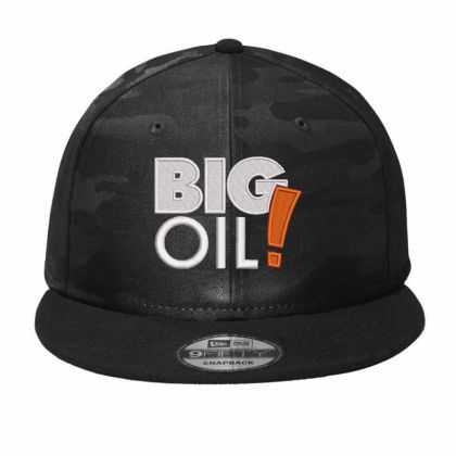 Big Oil Embroidered Hat Camo Snapback Designed By Madhatter