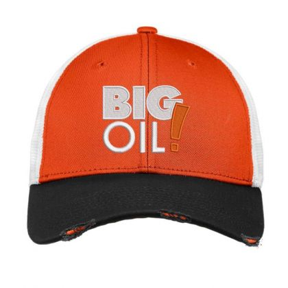 Big Oil Embroidered Hat Vintage Mesh Cap Designed By Madhatter