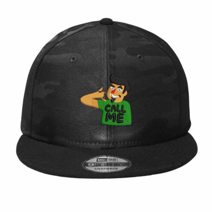 Call Me Embroidered Hat Camo Snapback Designed By Madhatter