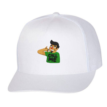 Call Me Embroidered Hat Trucker Cap Designed By Madhatter