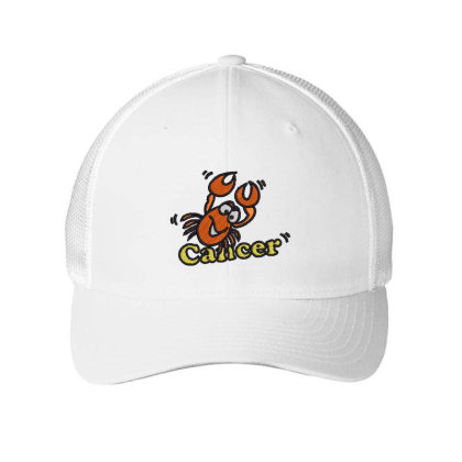 Cancer Zodiac Cat Embroidered Mesh Cap Designed By Madhatter