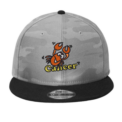 Cancer Zodiac Cat Camo Snapback Designed By Madhatter