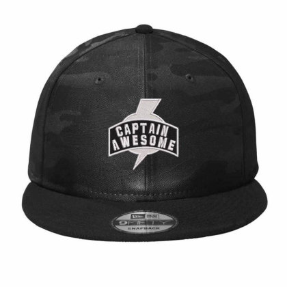 Captian Awesome Embroidered Hat Camo Snapback Designed By Madhatter