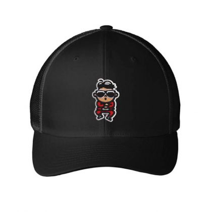Cartoon Embroidered Hat Embroidered Mesh Cap Designed By Madhatter