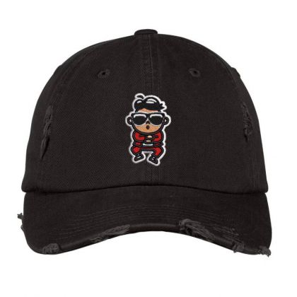 Cartoon Embroidered Hat Distressed Cap Designed By Madhatter