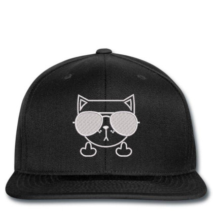 Cat Embroidered Hat Snapback Designed By Madhatter