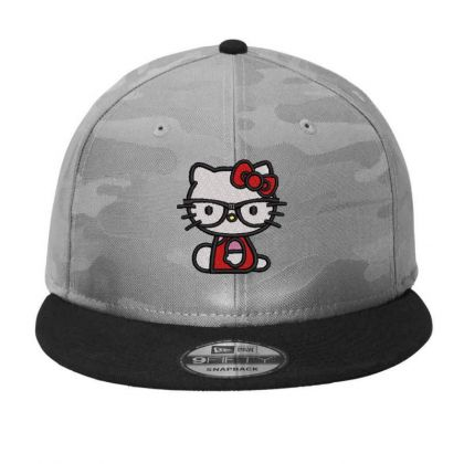 Cat Embroidered Hat Camo Snapback Designed By Madhatter