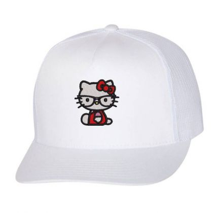 Cat Embroidered Hat Trucker Cap Designed By Madhatter
