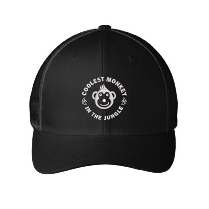 Coolest Monkey Embroidered Hat Embroidered Mesh Cap Designed By Madhatter