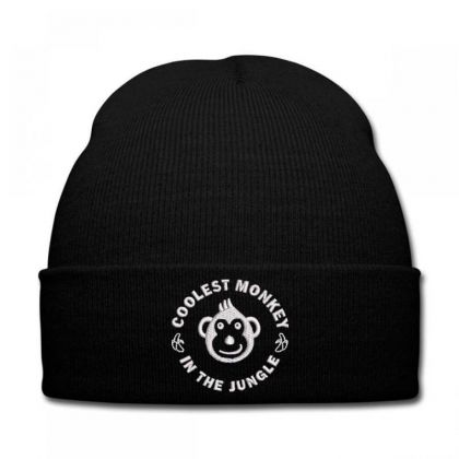 Coolest Monkey Embroidered Hat Knit Cap Designed By Madhatter