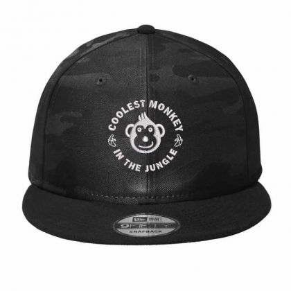 Coolest Monkey Embroidered Hat Camo Snapback Designed By Madhatter