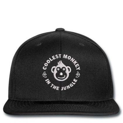 Coolest Monkey Embroidered Hat Snapback Designed By Madhatter