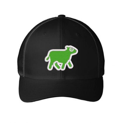 Cow Embroidered Hat Embroidered Mesh Cap Designed By Madhatter