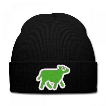 Cow Embroidered Hat Knit Cap Designed By Madhatter