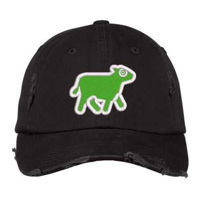 Cow Embroidered Hat Distressed Cap Designed By Madhatter