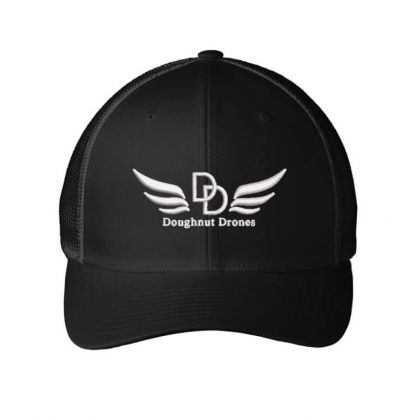 Doughnut Drones Embroidered Hat Embroidered Mesh Cap Designed By Madhatter