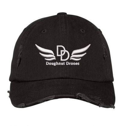 Doughnut Drones Embroidered Hat Distressed Cap Designed By Madhatter